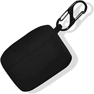 Haotop Case Compatible with Jabra Elite 65t/Elite Active 65t,Soft Silicone Protective Skin Cover Wireless Earbuds Case 2 in 1 (Dark Black)