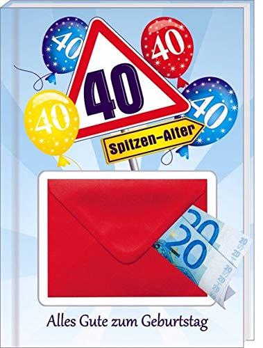 AV Andrea Verlag Alles Gute zum 40. Geburtstag Geldgeschenk Buch Piccolo mit Blattgold Kräuterlikör Schnäpse Zollstock Geldgeschenk für Männer und Frauen als Geburtstagsgeschenk (Alles Gute 40)