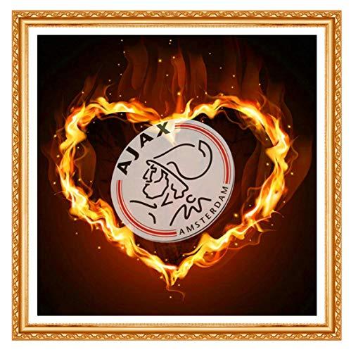 Diamond Art 5D Diy Diamond schilderij Cross Stitch Diamond Embroidery 'AJAX' voetbal Logo mozaïek huisdecoratie 40x40cm