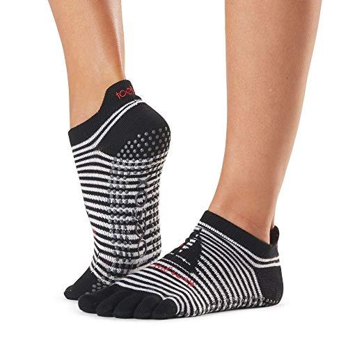ToeSox Calcetines para mujer de tiro bajo con puntera completa y agarre