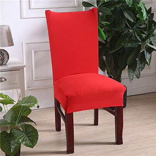 Fundas para Sillas de Comedor Rojo Fundas para sillas Flexible y FÁCil de Limpiar,Comedor Fundas elásticas Cubiertas para Sillas para el Hogar, Restaurante, Bar, Etc(2 Piezas)