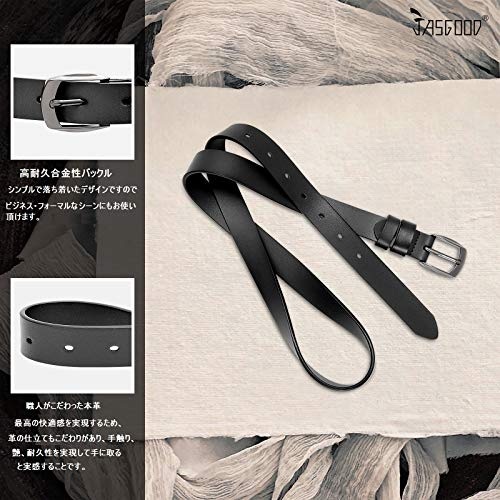 レディースベルト 本革 牛革 ベルト 耐久性 柔らかい カジュアル レザーベルトJA049 049ブラック