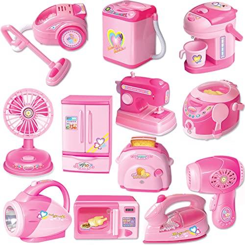 JIAJU Casa per bambini e elettrodomestico giocattolo ragazza simulazione mini cucina frigorifero ventilatore aspirapolvere giocattolo un regalo di compleanno