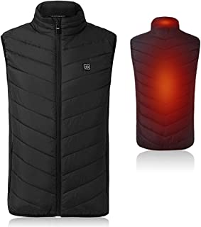 Unisex Heated Vest, Adjustable USB Heating, Warm Vest for Outdoor for Outdoor Camping Hiking Golf, Washable Heated Jacket Clothes