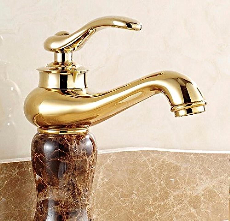 ETERNAL QUALITY Bad Waschbecken Wasserhahn Küche Waschbecken Wasserhahn Kupferne Heie Und Kalte Unter Gegenbassinmarmorjade Waschtischmischer BQ1770ca