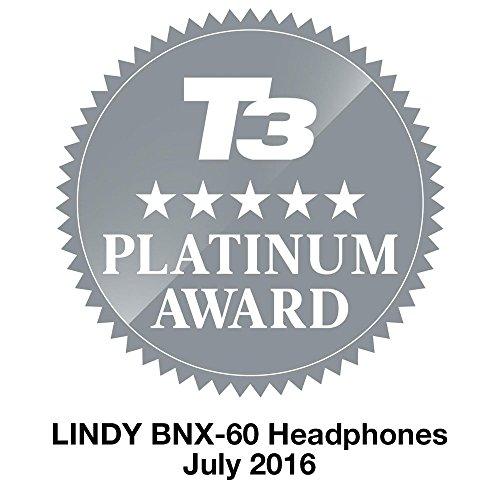 Lindy BNX-60 Diadema Binaural Alámbrico/Inalámbrico Negro, Rojo - Auriculares (Inalámbrico y alámbrico, Diadema, Binaural, Circumaural, 20-20000 Hz, Negro, Rojo)