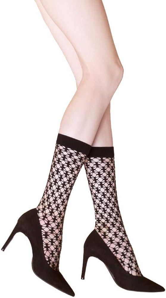 Fiore Noise Knee High Fishnet Socks