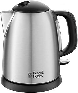 Russell Hobbs Bouilloire Compacte 1L, Ebullition Rapide, Filtre Anti-Calcaire Amovible, Lavable, Niveau d'Eau Visible - 24...