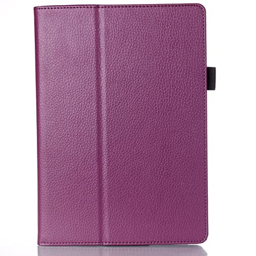 LIUCHEN Funda para tablet Lenovo A10-30F TB2 X30L X30F Tablet 10.1 '' Delicado PU Cuero Para Funda Para Lenovo Tab 2 A10-30, Púrpura