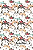 Pocket Notebook: Adorable Shiba Apple Bandana Wearing Shiba Inus Cover | 110 Simple Blank Lined Page Memo Note Pad | Soft Cover Mini Journal | Small ... Work, and School Life! (More Shiba Inu Love)