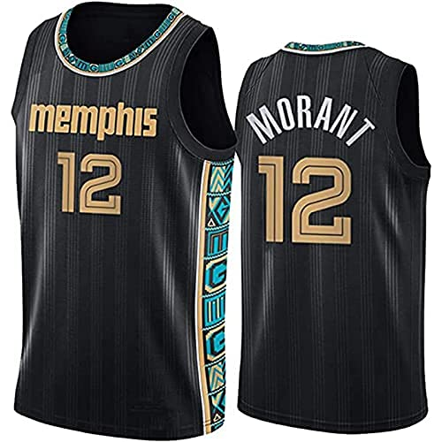 DIMOCHEN Movement Ropa Jerseys de Baloncesto para Hombres, NBA Memphis Grizzlies 12# Ja Moranto, cómodo, Camiseta Uniformes Deportivos Tops(Size:M,Color:G1)