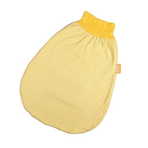 Hoppediz S-50-gel Wohlfühl-Strampelsack gestreift ohne Gurtschlitz, Größe 50-62, gelb