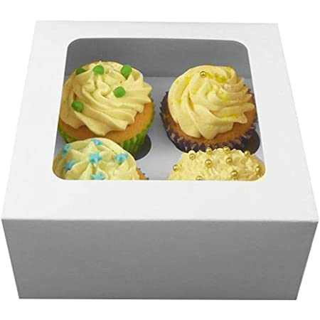25 pcs 6 HOLE WINDOW CUPCAKE MUFFIN BOX BOXES HOLDER BAKING WITH REMOVABLE TRAY