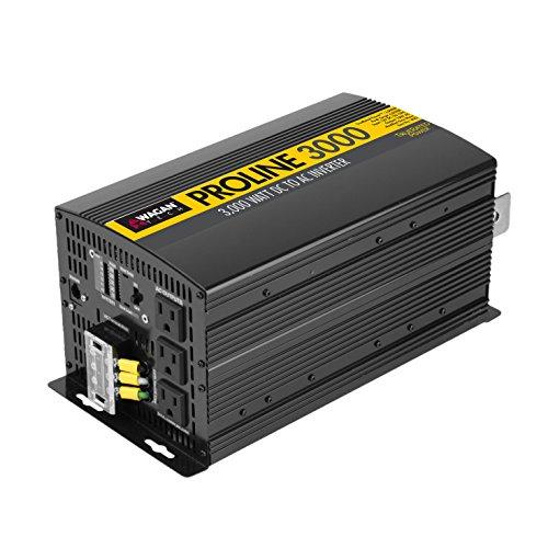 Wagan EL3742 3000 Watt Power Inverter with Remote Control 6000 Watt Surge Peak Power converter for Home RV Camping Van Life Off Grid