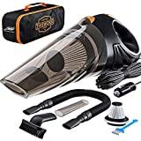Portable Car Vacuum Cleaner: High Power Corded Handheld Vacuum w/ 16 foot cable - 12V...