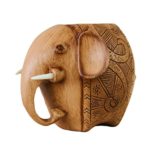 home-organizer Tech para tallar madera elefante soporte para el lápiz