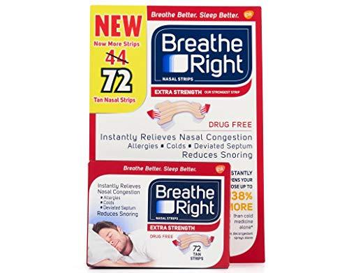 Breathe Right Nasal Strips Tan Strips 72 Strips