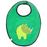 LÄSSIG Baby Kleinkind Lätzchen Medium wasserabweisend Klettveschluss/Medium Bib, Wildife Rhino