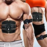 Jumix Muscle Exerciser Trainer With ABS Stickers Pad For Body Slimming Massager |Fitness Muscle Toner & Abs Stimulator Abdominal Toning Belt EMS - Flexible Silicone/Body Workout at Home-Office