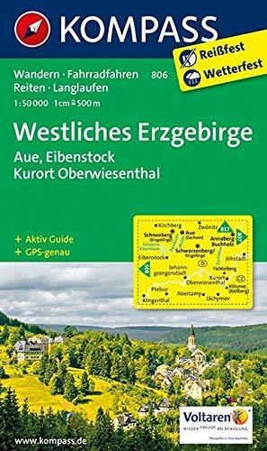 Westliches Erzgebirge, Aue, Eibenstock, Kurort Oberwiesenthal: Wanderkarte mit Aktiv Guide, Radwegen, Reitwegen und Loipen. GPS-genau. 1:50000 (KOMPASS-Wanderkarten, Band 806)