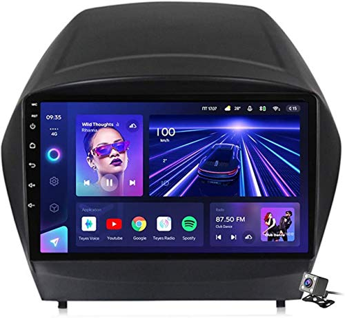 Android 10 MP5 Player GPS Navegación para Hyundai Tucson IX35 2009-2015, Soporte WiFi 5G DSP/FM RDS Radio de Coche Estéreo/BT Hands-Free Calls/Control del Volante/Carplay Android Auto