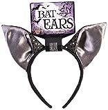 Forum Novelties 78929 Unisex-Adults Bat-Ears-Headband, Black Color, Standard, Multicolor, Pack of 1