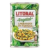 Litoral Vegetal Plato Preparado de Garbanzos, sin Gluten, 425g