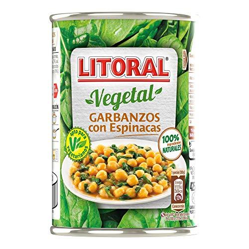 Litoral - Garbanzos con Espinacas - Pack de 5 x 425 g