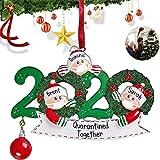 2020 Adornos de Navidad Personalizados para árbol de Navidad decoración del hogar Regalos,Decoración navideña[3 familias] (2)