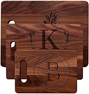 Personalized Bamboo and Walnut Cutting Board with 3 Sizes 2 Colors and 18 Designs Custom Cutting Board Wedding Housewarming Anniversary Christmas Mothers and Fathers day Gift & Kitchen Sign - T4
