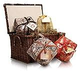 Pasticceria Passerini dal 1919 Cesta de Navidad con Surtido de 4 Panettones Italianos de Vergani