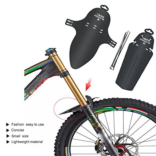 Kangrunmy Garde Boue De Bicyclette 1 Set VéLo VTT VéLo De Montagne Avant Garde-Boue ArrièRe Garde-Boue Garde-Boues TéLescopable Protecteur