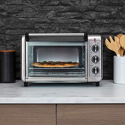 Russell Hobbs 26095 Express Air Fryer Mini Oven - Countertop Electric Convection Oven, Grill and Airfryer with Bake Pan and Rack Included, 1500 Watts