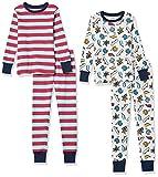 Amazon Essentials Snug-Fit Cotton Pajamas Sleepwear Sets Conjunto de Pijama, 4 Piezas West Coast, XXL, Pack de 4