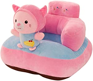 Flyinghedwig Baby Sofa Seat Cartoon Plush Seat Soft Sofa Removable Sofa Chair Washable Baby Support Seat Plush Toys Cushion for Toddlers Children Kids Infant  Cat