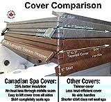 Canadian Spa, copertura per vasca idromassaggio, colore marrone, 213,4x 213,4cm, tasso di assottigliamento da 4,2 cm, specifiche elevate