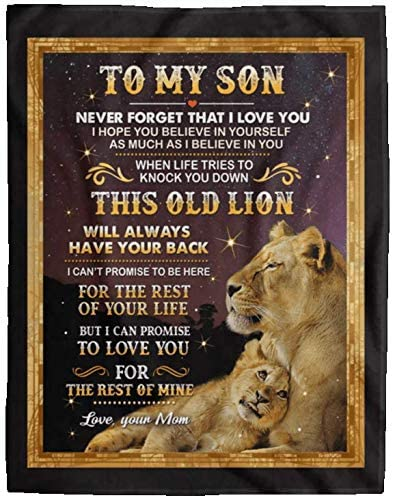 God Blessed The Broken Road Sofa Fleece Blanket 50-80 Lion To My Husband