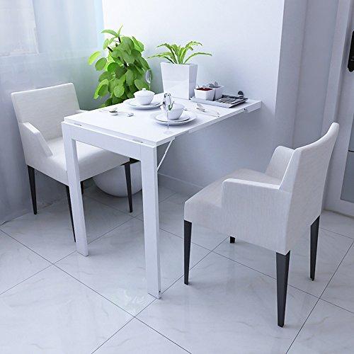 GYH zhuozi LJHA Table Pliante/Table Pliante Murale/Table à Manger Pliante/Table d'ordinateur/Table Pliante Multifonction/Table décorative Murale à la Maison Table (Couleur : Blanc)
