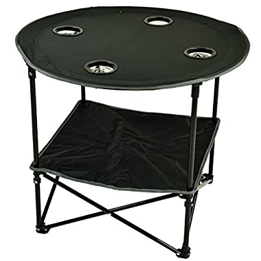 Picnic at Ascot Travel Folding Table For Picnics And Tailgating, Black