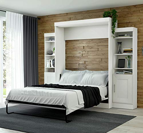 """Bestar, Edge Collection, Queen Murphy Bed and 2 Storage Units (107"""")"""