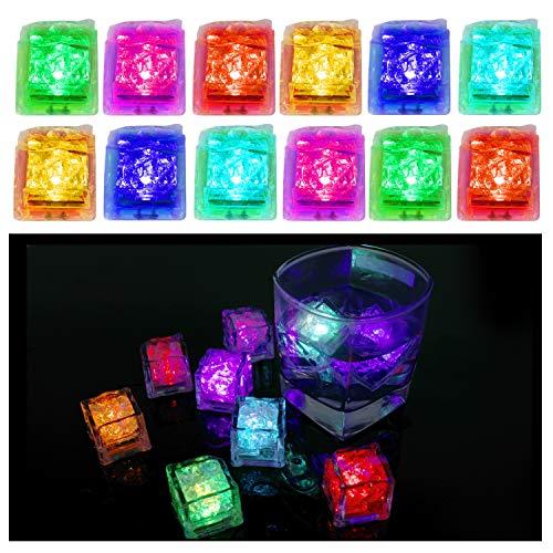 Multi Farbe LED Ice Cube Eiswürfel LED Glühen Licht, Wein trinken Light LED polychromem Flash Ice Lichter Flüssiger Sensor wechseln Glow Licht für Hochzeit, Geburtstag, Party, Club und Bar