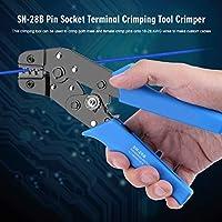 端子圧着工具、青+黒ソケット端子圧着工具、家庭用耐久性