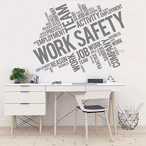 Arbeitssicherheit Beschriftung Vinyl Wandtattoo Geschäftsstelle Team Wanddekoration Aufkleber Einzigartige Wandbild Tapeten Interieur
