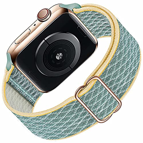 Solo Loop compatibile con cinturino Apple Watch 38mm 40mm per uomo donna, cinturino di ricambio sportivo in nylon elastico intrecciato per serie IWatch 6/5/4/3/2/1 / SE, SunShine 38mm 40mm