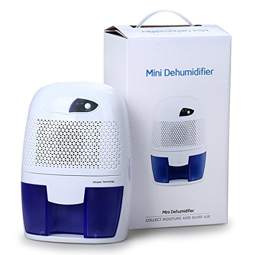 Oxygentle Mini Energy Saving Air Dehumidifier Mositure Absorber Portable for Living Room Bathroom Kitchen Garage 1100 Cubic Feet
