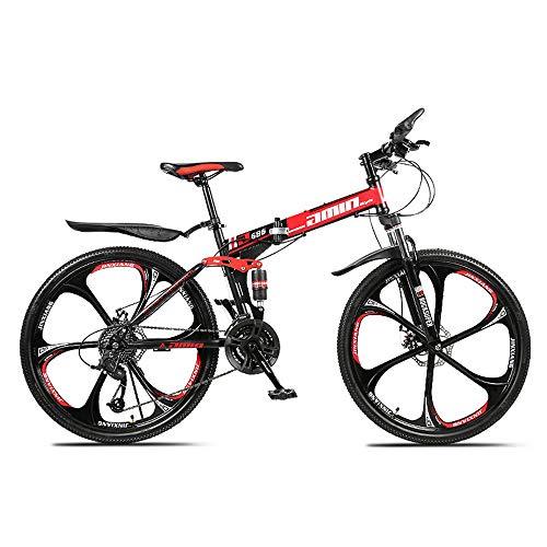 classement un comparer VTT tout suspendu ZLZNX 26 pouces, vélo pliant avec double frein à disque, suspension avant, cadre…