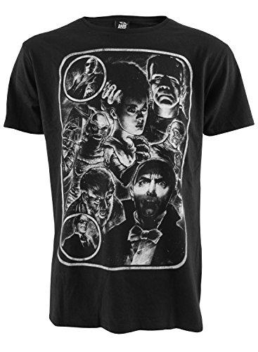 Monster Mash Up T-shirt pour homme Motif film d'horreur Dark - Noir - Large