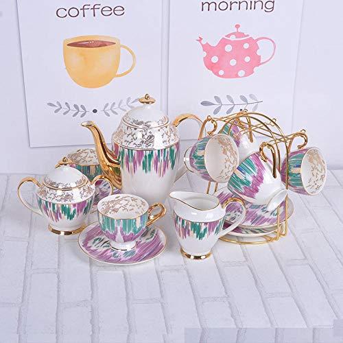 ZMEETY Ensemble de cafetière en céramique Tasse de café Arc-en-Ciel Tasse d'eau Domestique Ensemble de café en céramique-Une