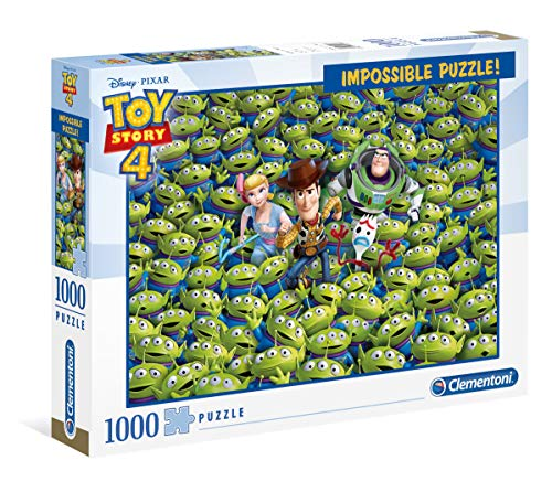 Clementoni- Puzzle 1000 Piezas Impossible Toy Story 4, Multicolor (39499.9)