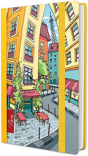 """RNK 46708 - Notizbuch City Collection\""""Paris Bistrot\"""", 9x14,3cm, liniert, 100 Blatt, 70 g/m², 1 Stück"""